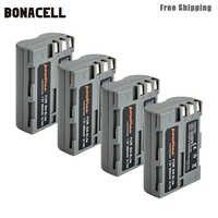 Bonacell 2600mAh EN-EL3e es EL3e EL3a ENEL3e batería para cámara digital para Nikon D300S D300 D100 D200 D700 D70S D80 D90 D50 L50