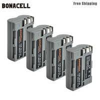 Bonacell 2600mAh EN-EL3e EN EL3e EL3a ENEL3e Batterie pour Appareil Photo Numérique Nikon D300S D300 D100 D200 D700 D70S D80 D90 D50 L50