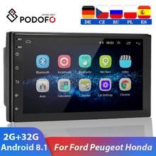 Podofo 2 Din Android 9.1 Car Multimedia Video Speler 2din 7