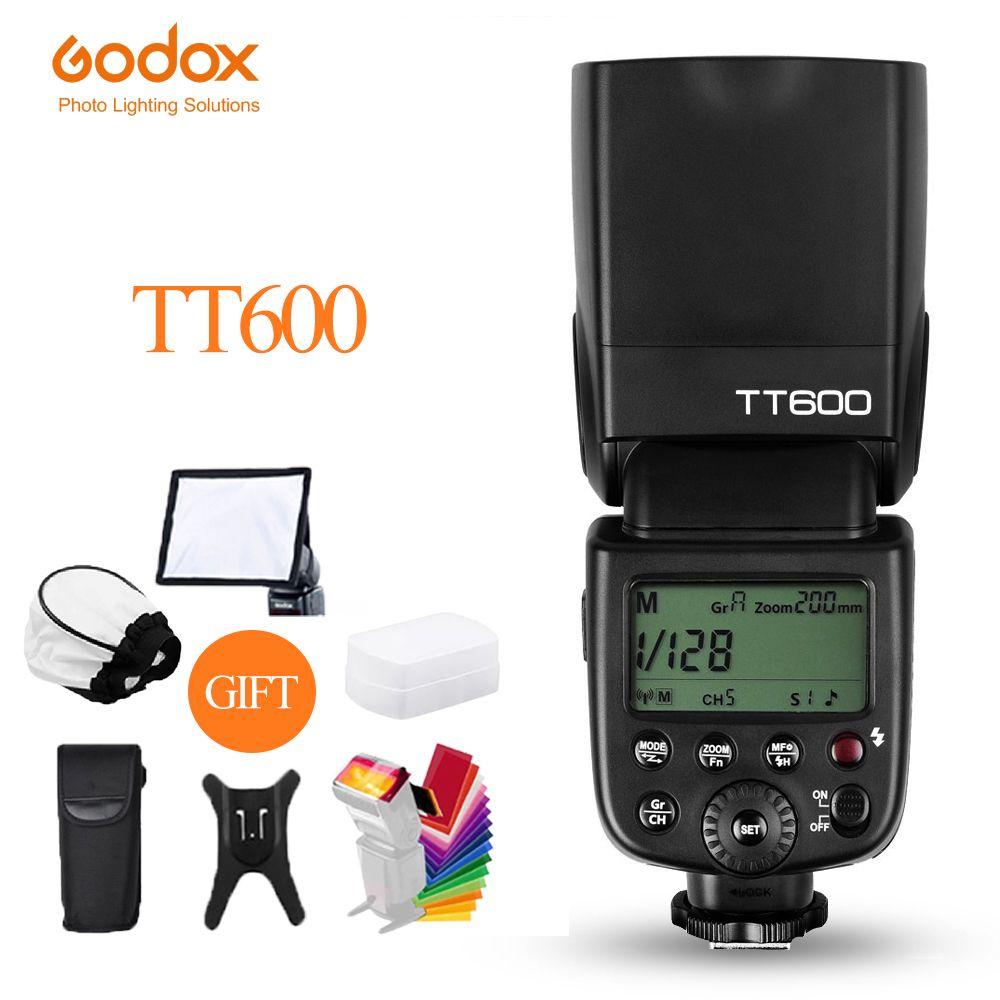 Вспышка для камеры Godox TT600 TT600S, 2,4 ГГц, беспроводная GN60 Master/Slave, для Canon, Sony, Nikon, Fujifilm, Pentax, Olympus