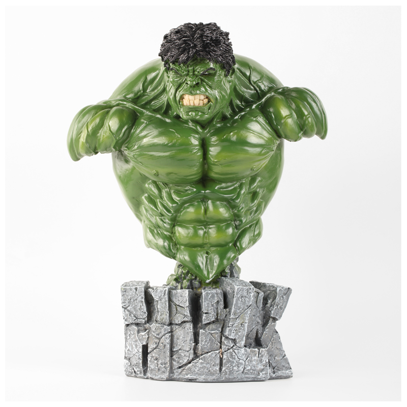 Disney Marvel Film Around The Avengers Hulk The Incredible Hulk Bust Action Figure Collection Model Toy X4894 image