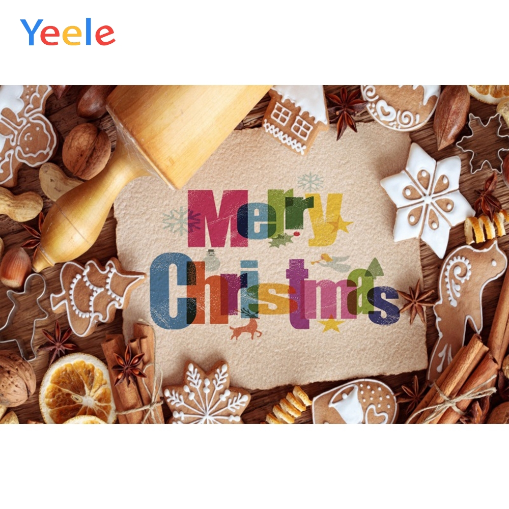Yeele Christmas Party Photocall Wood Decors Foods Photography Backdrops Personalized Photographic Backgrounds For Photo Studio in Background from Consumer Electronics