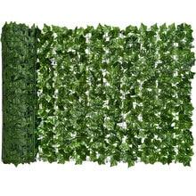 Cerca artificial das sebes da tela da cerca da privacidade da hera de 0.5x3m e decoração da folha da videira da hera do falso para o jardim exterior da decoração