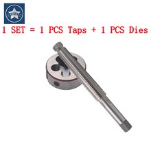 VOKET 1 Set Right Left hand Metric Trapezoidal tap and Die set TR 8 10 12 14 16 X1.5 X2 X3 X4 thread Screw T R taps Round dies