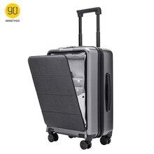 NINETYGO 90FUN ile bagaj üzerinde taşımak dönücü jantlar 20 inç Hardside Hardshell TSA uyumlu bavul ön cep kilit kapağı