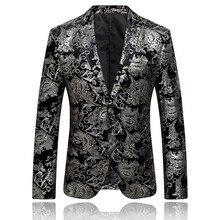 Feitong Блейзер костюм мужское платье цветочный костюм с зазубренным отворотом Slim Fit кнопка Стильный Блейзер Пальто Куртка мужская блейзер masculino