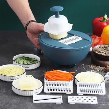 Przybory kuchenne wielofunkcyjny artefakt do cięcia warzyw rozdrabniacz do ziemniaków rozdrabniacz do gospodarstwa domowego krojenie domowych gadżetów rzodkiewki tanie i dobre opinie CN (pochodzenie) Rozdrabniacze i krajalnice CE UE b433 Ekologiczne Z tworzywa sztucznego
