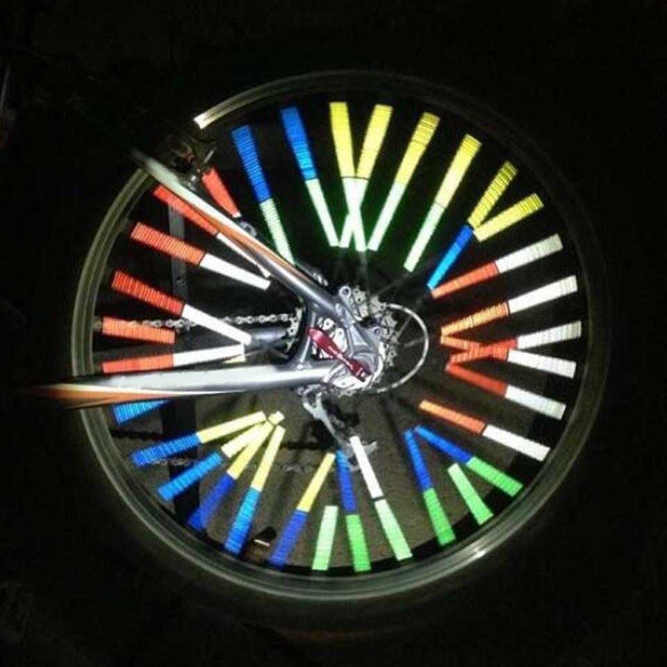 12pcs Bicycle Spoke Mounted Reflector Reflecteur Clip Reflective Safety