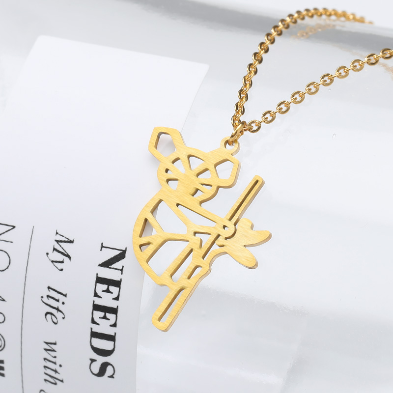 2019 new necklace fashion curved koala pendant gold silver ladies necklace beautiful kolye jewelry birthday gift romantic gift in Pendant Necklaces from Jewelry Accessories