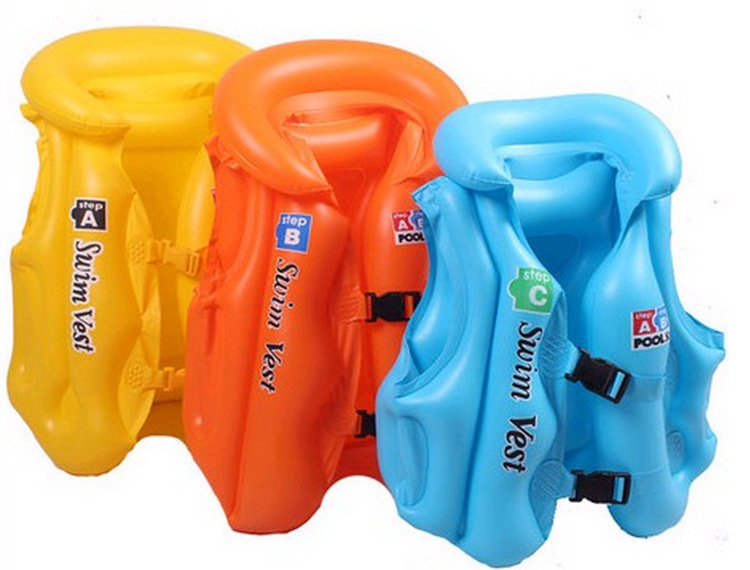 Inflatable Swim Ring ABC No. Swimming Vest Big Boy Bathing Suit Environmentally Friendly Thick PVC Inflatable Bathing Suit Swimw