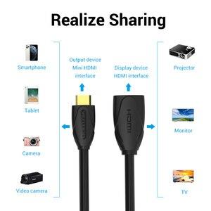 Image 5 - Vention במהירות גבוהה מיני HDMI כבל HDMI Mini התקן נקבה HDMI הארכת כבל סנכרון נתונים מתאם