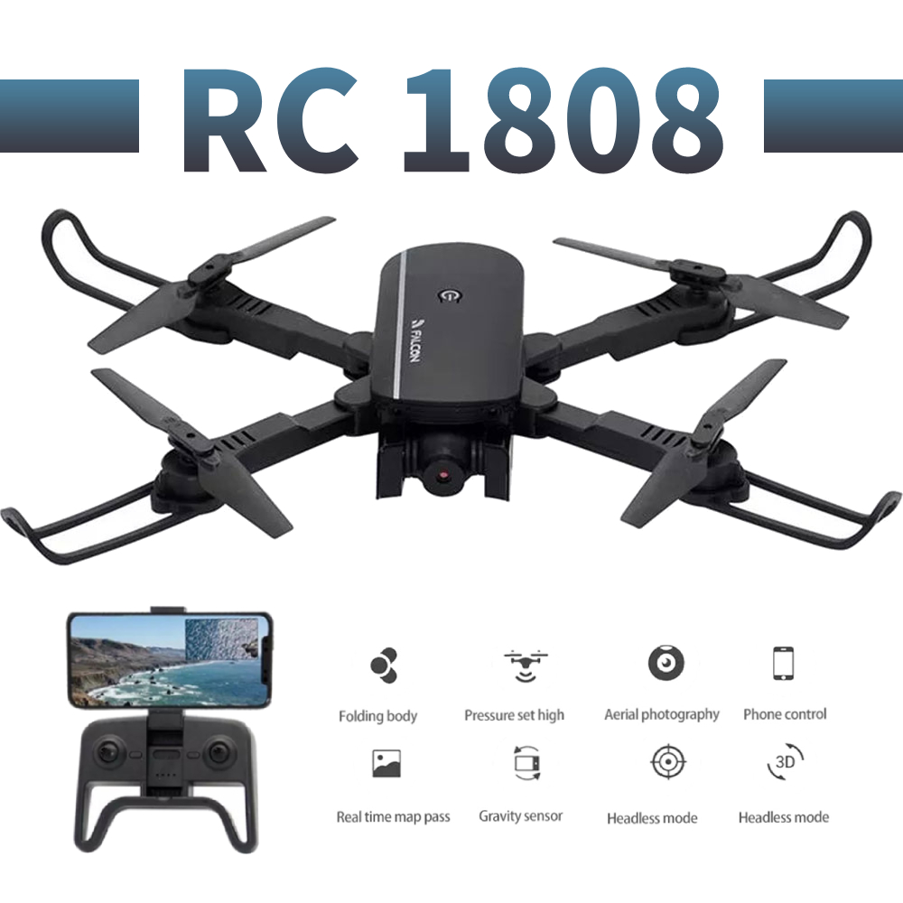 RC1808 profissional wide angle camera drone 1080p 4K HD WiFi FPV Brush motor propeller Long Battery air RC dron Quadcopter