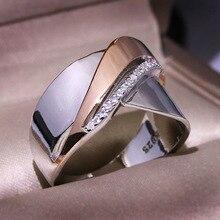 Преувеличенная индивидуальность 925 стерлингового серебра ретро большие кольца для женщин в стиле Панк Роскошные крест-накрест модное кольцо
