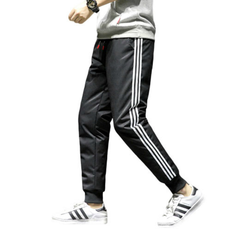 90% White Duck Down Pants Winter Warm Pants Plus Velvet Thick Casual Pants Men Heavyweight Pencil Pants Jogger Hip Hop
