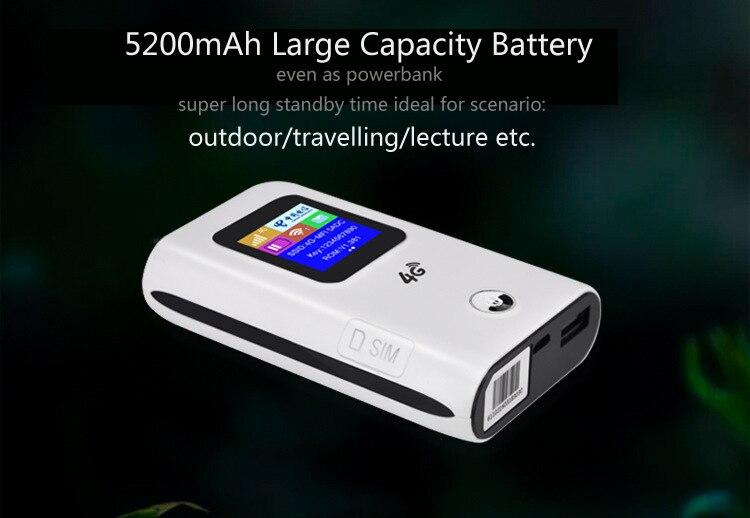 wifi roteador hotspot modem com banco energia da bateria 05