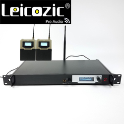 Leicozic Professional ear monitors wireless stage monitor L9200 iem in ear wireless monitoring system 2 receiver dj audio studio