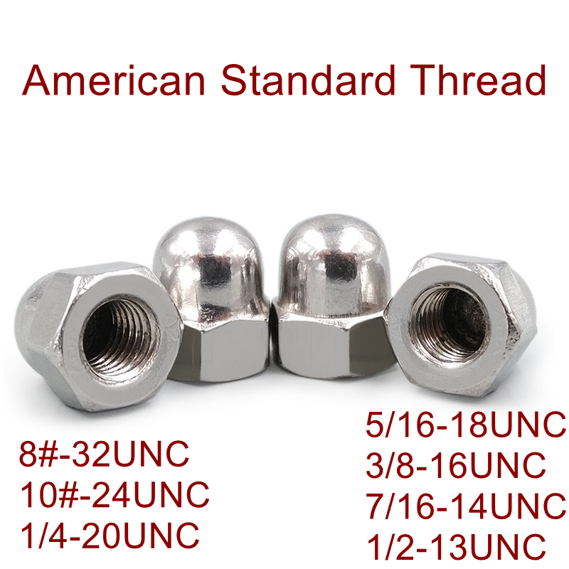 20pcs 1//4-20 Hex Acorn Nuts 304 Stainless Steel Hexagon Decorative Cap Nut Acorn Dome Head Nuts for Screws Bolts