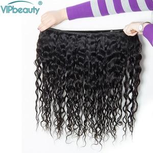 Image 5 - Mechones de cabello humano Remy con ondas al agua indio, postizo de Color Natural 1B, se puede teñir de 8 a 26 28 30 pulgadas 3 4 ofertas de extensiones