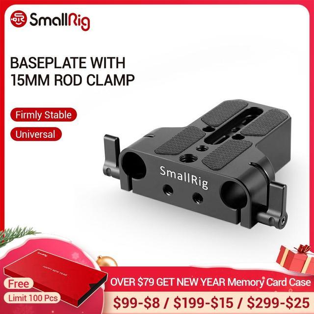 Smallrig カメラベースプレートデュアル 15 ミリメートルロッドレールクランプソニー FS7/ソニー A7 シリーズ/キヤノン c100/C300/C500/パナソニック GH5   1674
