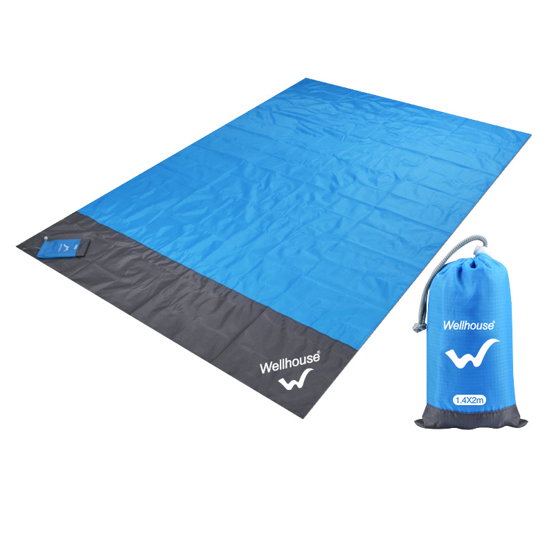 1 PC Portable Outdoor Mat Picnic Mat Moisture proof Seaside Beach Supplies 3 4 People Outing Tent Summer Camp Essential 200g|Hammocks| |  - title=