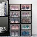 6 шт. прозрачная коробка для обуви утолщенная прозрачная Пылезащитная коробка для хранения обуви может быть сложена комбинированная коробк...