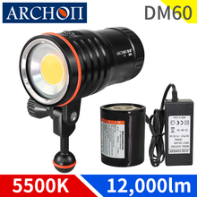 DM60 5500k Max 12,000 lumens HD video diving photoraphy lights Underwater 100m dive lighting flashli