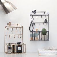 Wall Mounted Mail and Key Holder 7 Hook Rack Organizer Pocket and Letter Sorter for Entryway Kitchen Home Office Decor X4YD