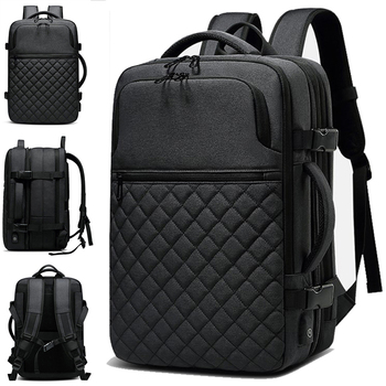 2019 USB charging men's waterproof 15.6 inch laptop Backpack Casual man school sport Travel Bag notebook pack backpack For Male