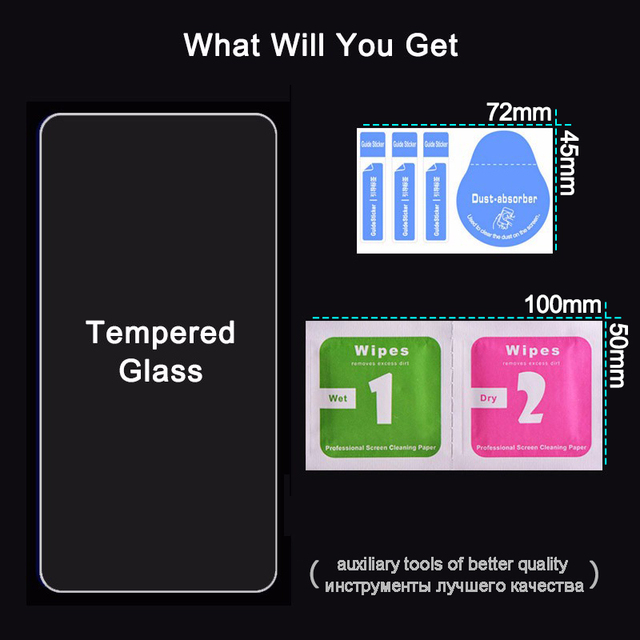 Protective tempered glass for iphone 11 Pro 7 6 6s 8 plus 5 s X