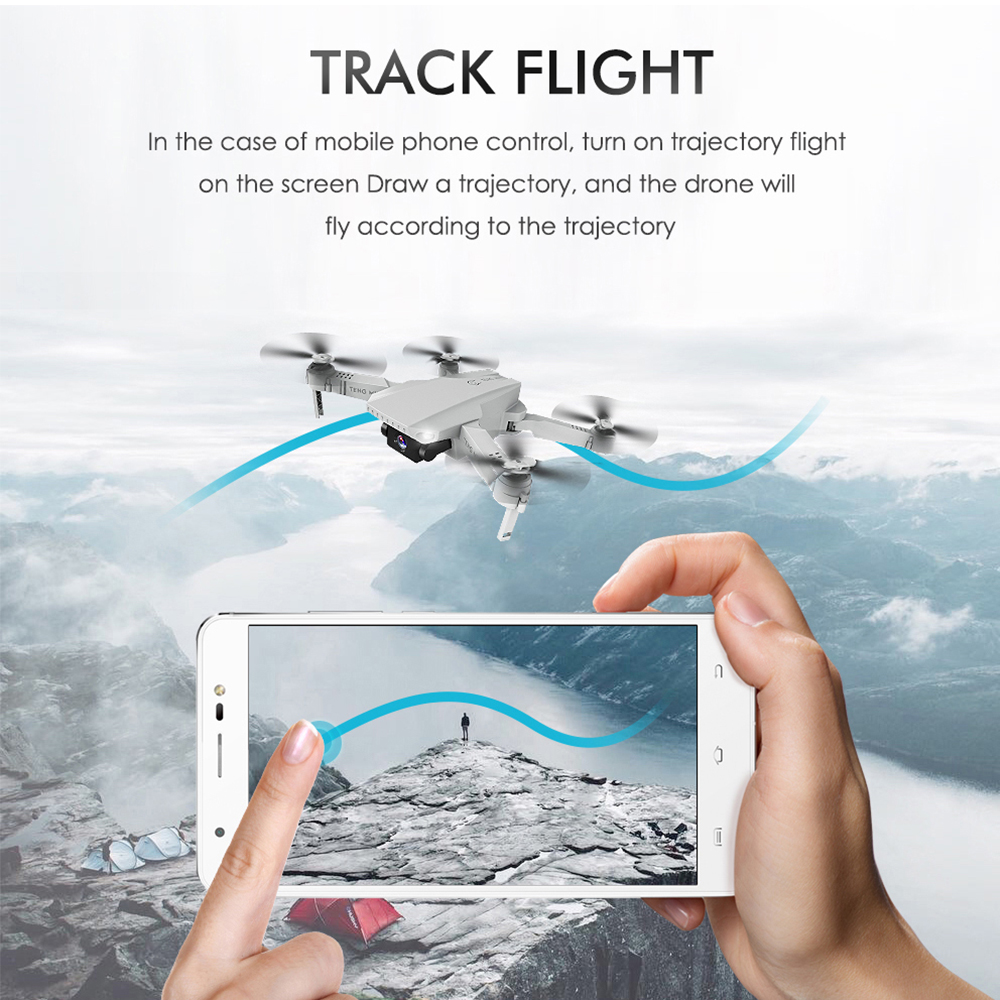 cheapest HJ28-1 Foldable 5MP Camera RC Drone Wifi FPV Altitude Hold Gesture Photo video RC Quadcopter with Storage Bag  amp  2PCS Batteries