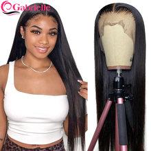 Gabrielle 30 Polegada frente do laço peruca de cabelo humano brasileiro osso cabelo reto barato 4x4 fechamento peruca 13x6 perucas frontal do laço remy cabelo