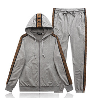 Starbags PPGG letter sports casual jacket set with various Korean popular logo men's long sleeve shirt long pants business suit