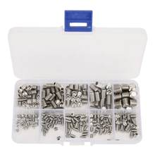 300Pcs M3/M4/M5/M6/M8 Stainless Steel Set Screws Set Hex Socket Headless Grub Screws Fasteners(China)