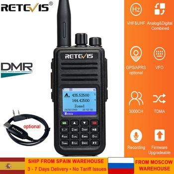 RETEVIS RT3S DMR Radio Digital Walkie Talkie GPS DMR Ham Radio Amador 5W DMR VHF UHF Dual Band Compatible with Mototrbo/TYT DMR 2