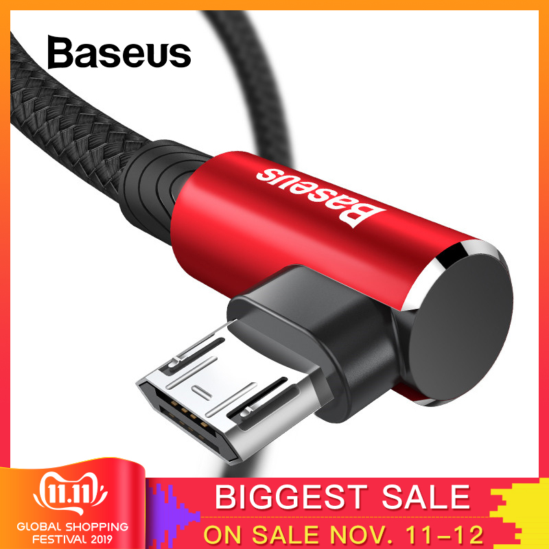 Baseus Mobile Game Reversible Micro USB Cable for Xiaomi Redmi 4X Note 4 5 Plus USB Data Cable for Samsung S6 USB Charger Cable-in Mobile Phone Cables from Cellphones & Telecommunications