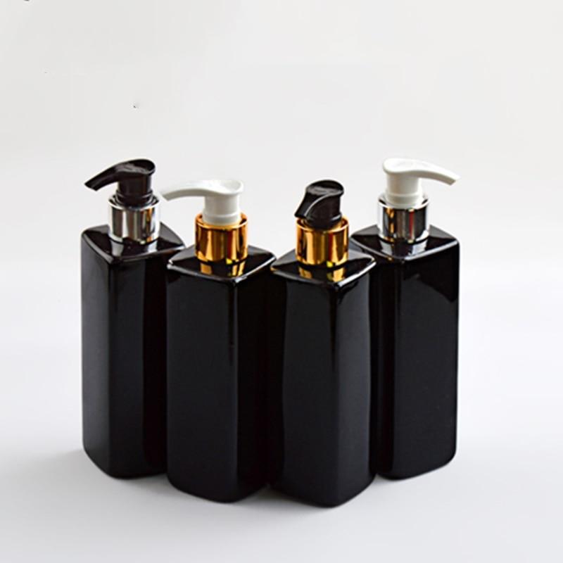 1PCs Plastic Empty Pump Dispenser Bottle Container Travel Refillable Bottles Hair Beauty Shampoo Lotion Shower Gel Bottle 250ml