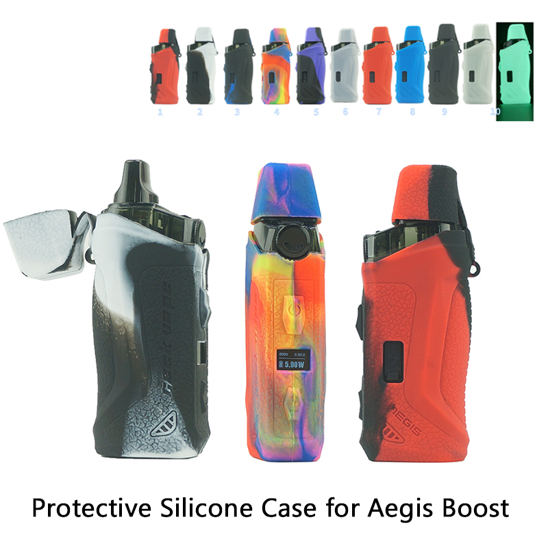 Protective Silicone Case Aegis Boost Cover For Geekvape Aegis Boost Vape Kit Vaping Anti-slip Rubber Sleeve Skin Wrap
