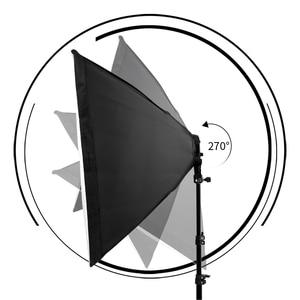 Image 4 - Photography Softbox Lightbox Kit 8 PCS E27 LED Photo Studio Camera Lighting Equipment 2 Softbox 2 Light Stand with Carry Bag