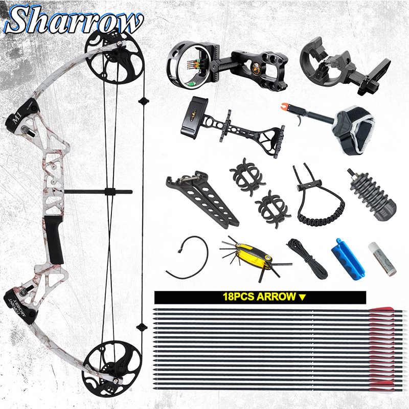 Archery Profession Compound Bow 19-70 Lbs IBO 320FPS TOPINT M1Hunting Bow Lncludes Almost All Shooting Accessories