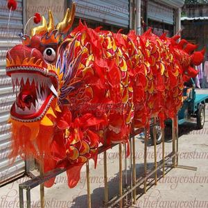Image 3 - למבוגרים נגן גודל 4 משי frabic הסיני DRAGON ריקוד מקורי הדרקון הסיני עממי פסטיבל חגיגה הדרקון תלבושות