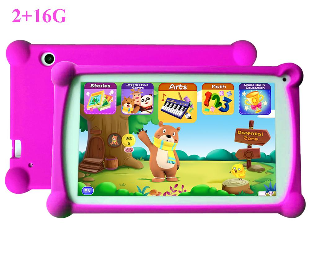 Kids Tablet, B.B.PAW 7 Inch HD Display 2+16G Android 6.0 Tablet For Adults And Kids, 120+ English Educational Preloaded Apps