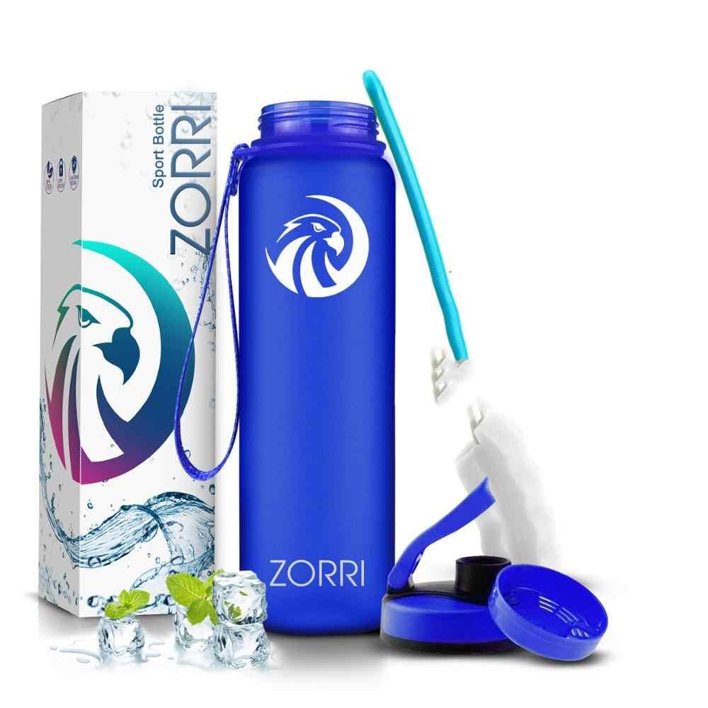 ZORRI nuevo agitador deportes botella de agua calabaza agua + botellas moda Bpa libre de turismo portátil y botella de Camping 800 ml garraf