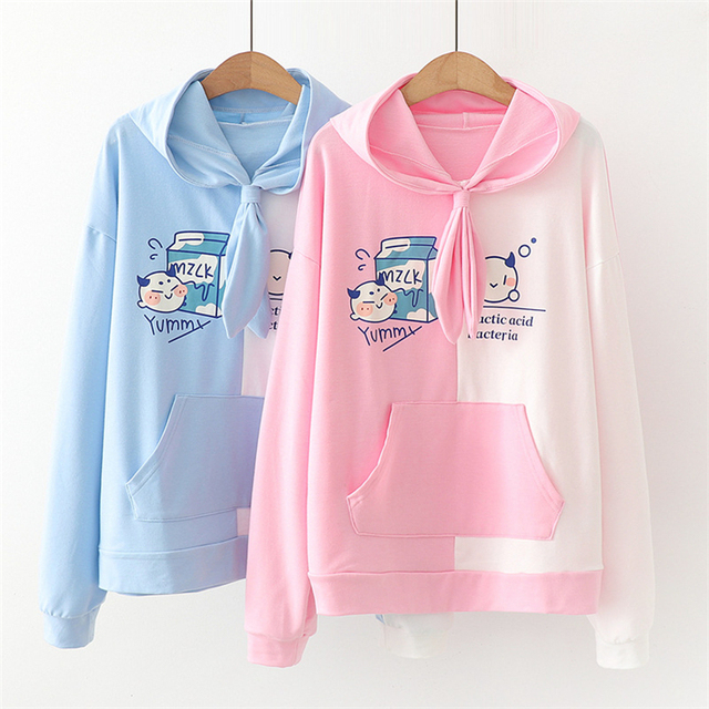 Kawaii Yummy Milk Harajuku Hoodie – Limited Edition