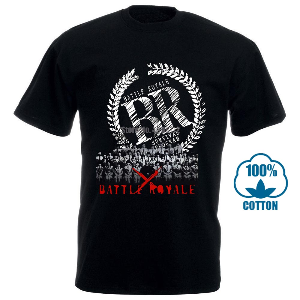 Battle Royale Movie T Shirt (Cult Japan Horror Hipster Tee Shirt Homme Short Sleeves Cotton Fashion 011190 image