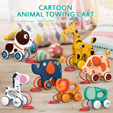 Toy Pull-Rope-Toys Animal-Trailer Toddler Traction Hand-Drawn-String Baby Push Children