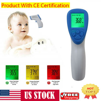 Non-Contact Infrared Forehead Thermometer for Baby Adults and Surface of Objects