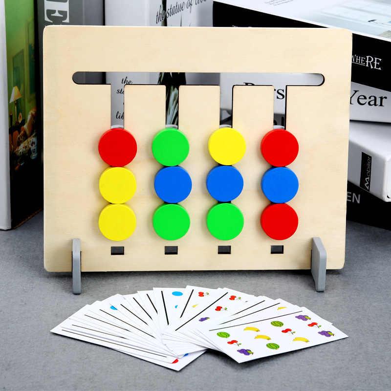 Farben und Obst Doppelseitige Montessori Spielzeug Passende Spiel Logische Argumentation Ausbildung Kinder Pädagogisches Spielzeug Kinder Holz Spielzeug