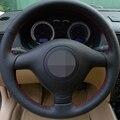 Чехол рулевого колеса автомобиля Hige Sofe из искусственной кожи для Seat Leon MK1 (1M) 1998-2005 Skoda Fabia RS 2003 Fabia 1 (6Y) 2004-2005