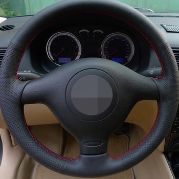 Hige Sofe Faux skórzana osłona na kierownicę do samochodu Seat Leon MK1 (1M) 1998-2005 Skoda Fabia RS 2003 Fabia 1 (6Y) 2004-2005 tanie i dobre opinie HKOADE CN (pochodzenie) Skóra z mikrowłókien Kierownice i piasty kierownicy 0 3kg Driving in all seasons can comfortably absorb sweat