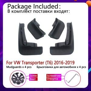 Image 2 - 폭스 바겐 폭스 바겐 트랜스 포터 t6 용 머드 플랩 caravelle multivan 2016 ~ 2019 펜더 머드 가드 스플래시 플랩 머드 가드 액세서리 2017